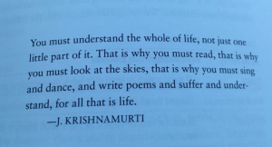Krishnamurti quote pic